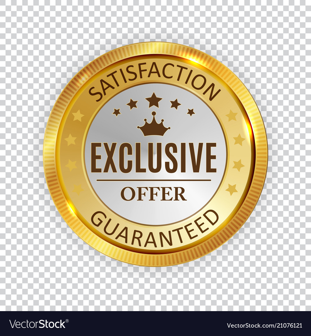 Exclusive offer golden shiny label sign