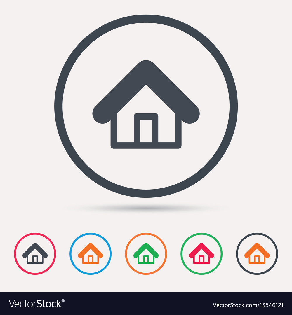 Home icon house building sign vector image