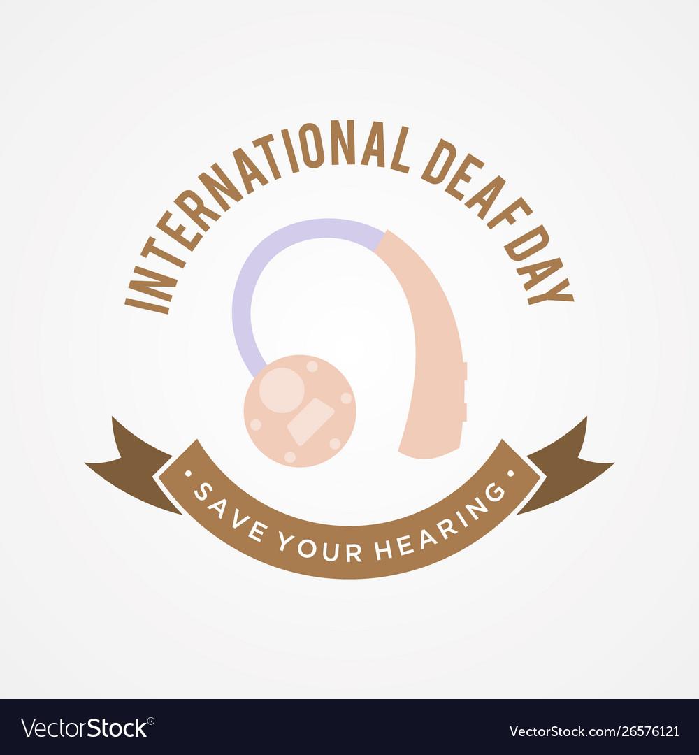 International deaf day emblem concept background