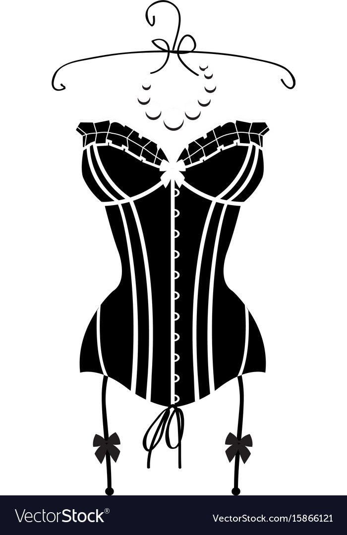 Ladys sexy black vintage corset vector image