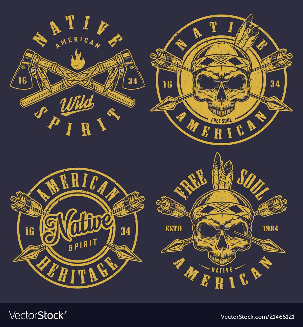 Set of skull logos