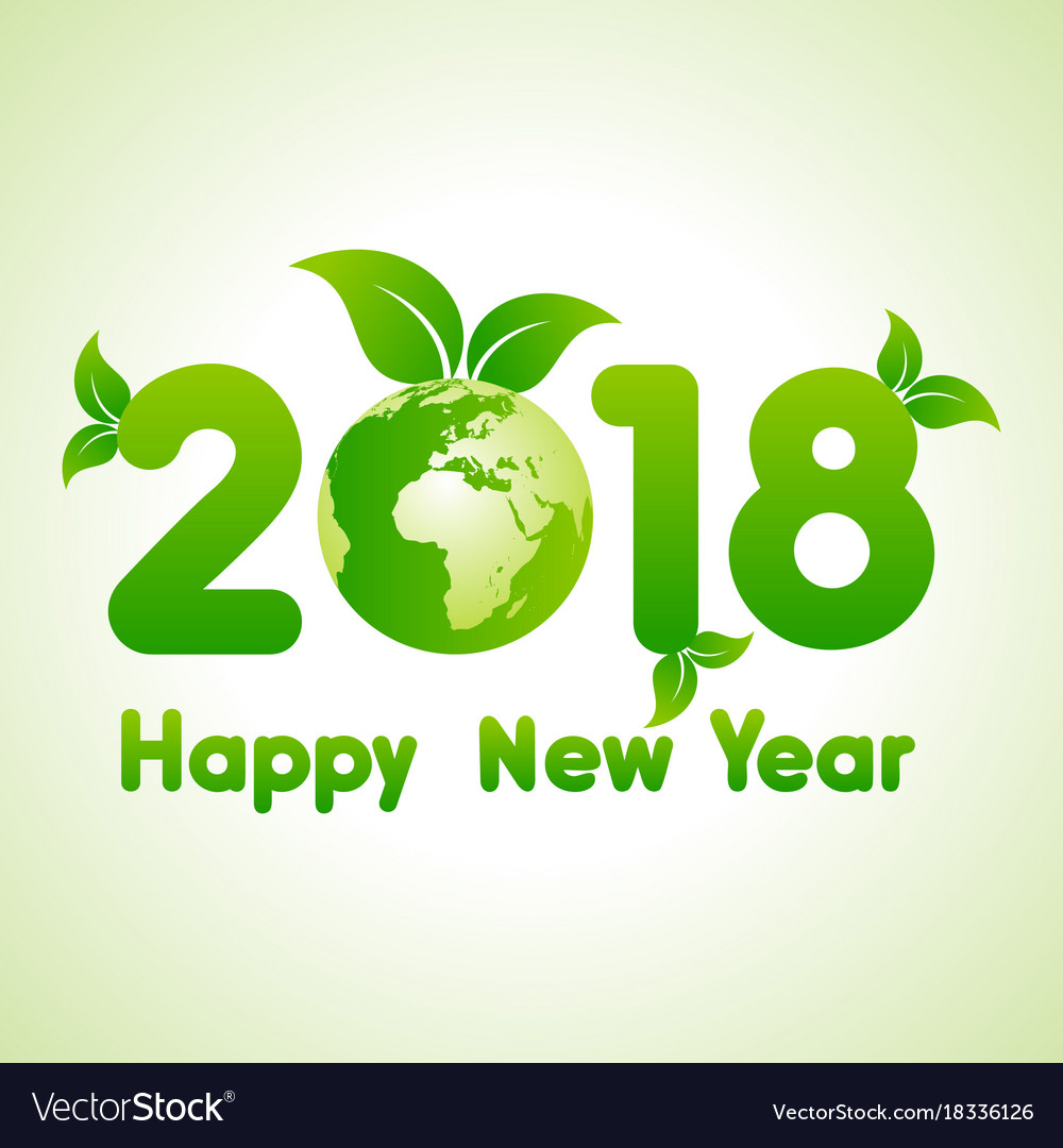 2018 Greeting For New Year Celebration Royalty Free Vector
