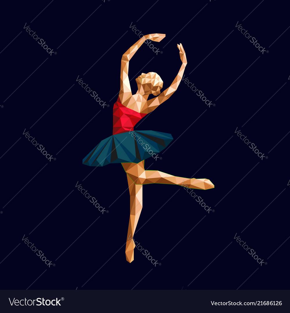 Ballerina prima polygonal triangle paper cut