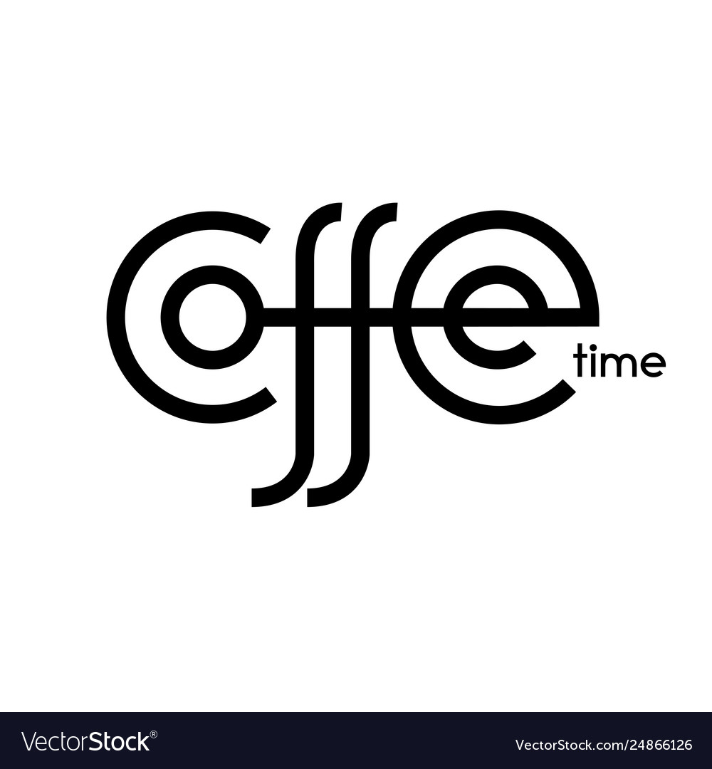 Coffee time hand drawn lettering