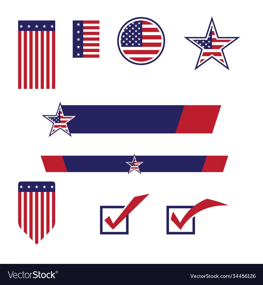 Flag american icon