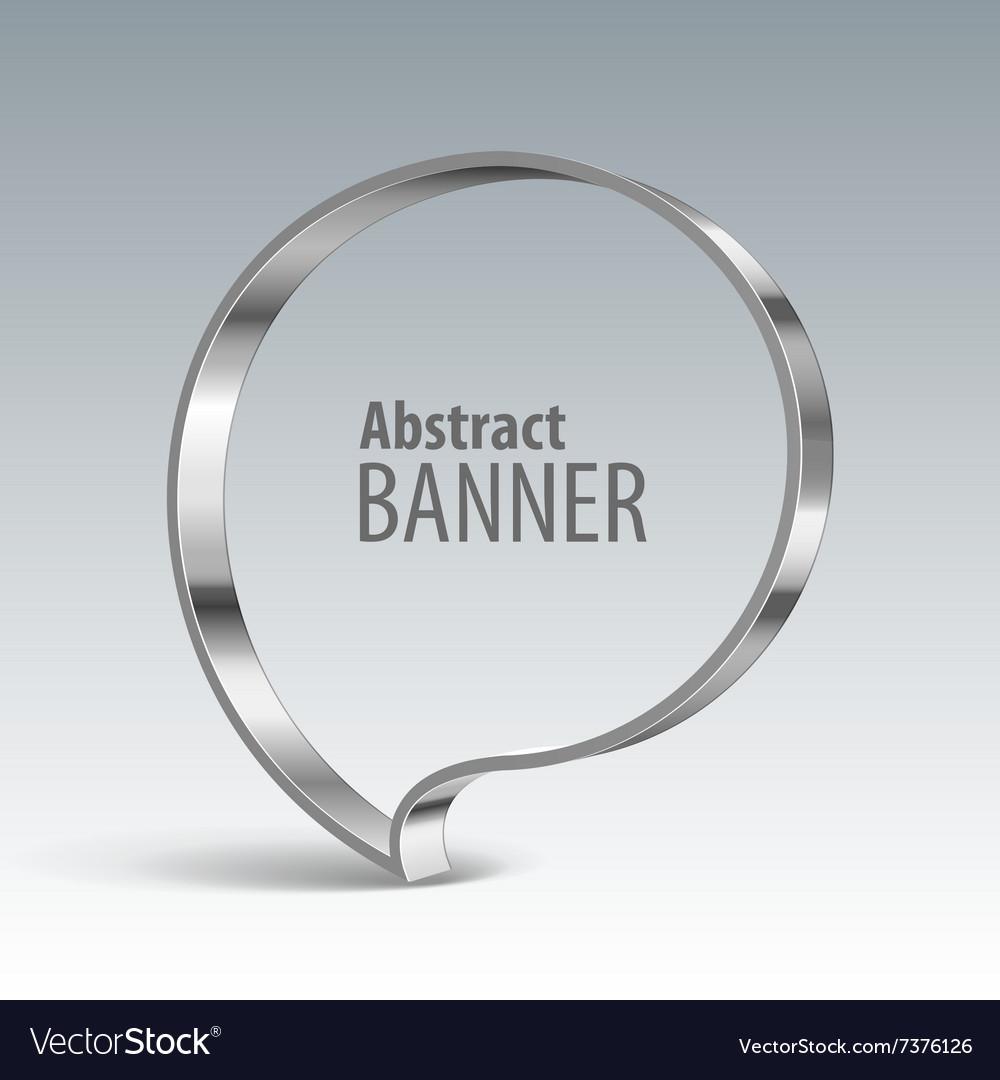 Shiny metal banner