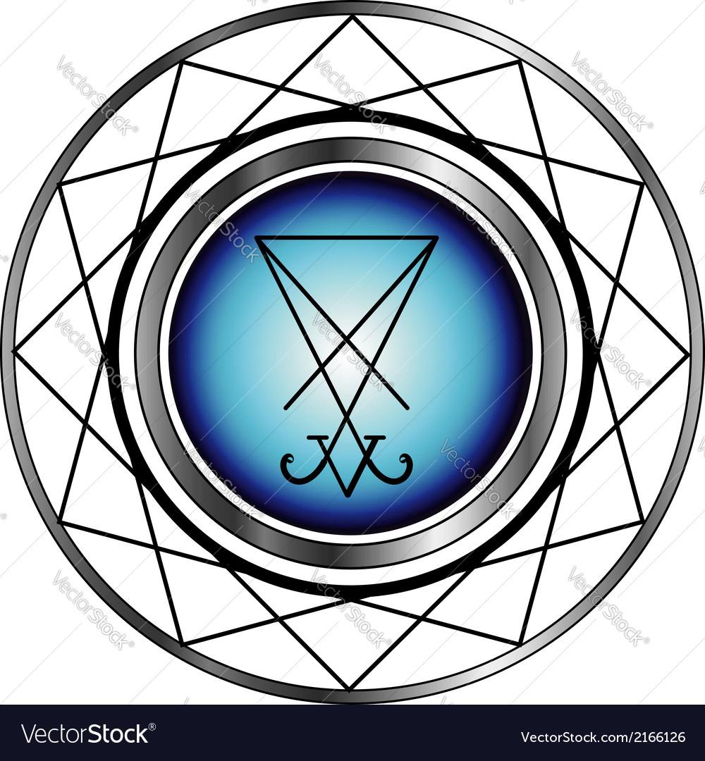 Sigil Of Lucifer A Symbol Of Satanism Royalty Free Vector