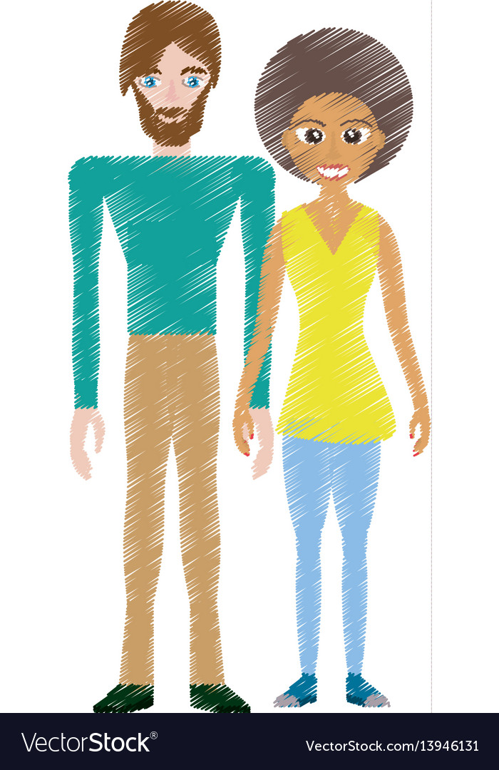 Drawing couple romantic lovely