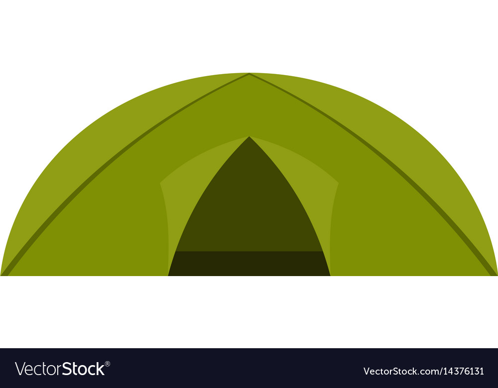 Green tent for camping icon isolated