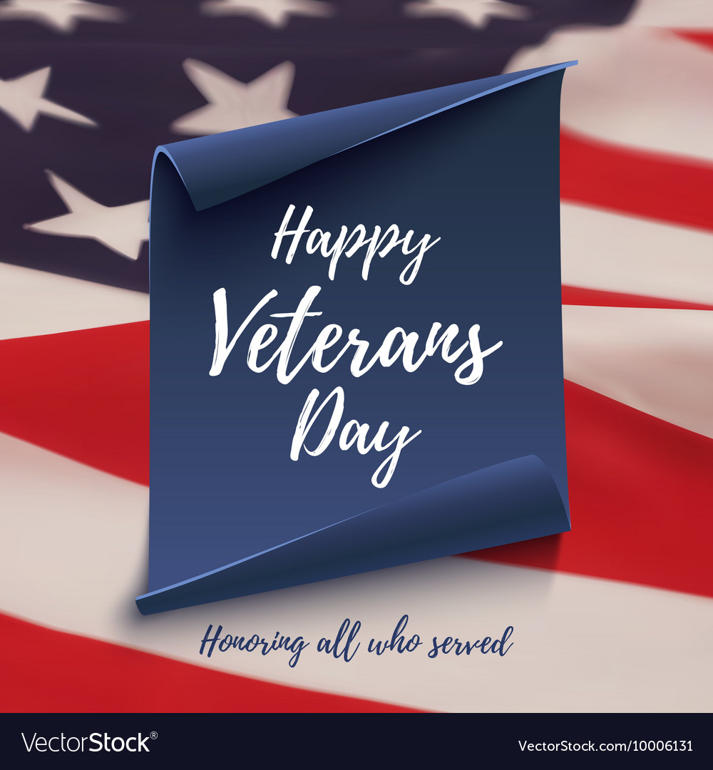 Happy Veterans Day background template