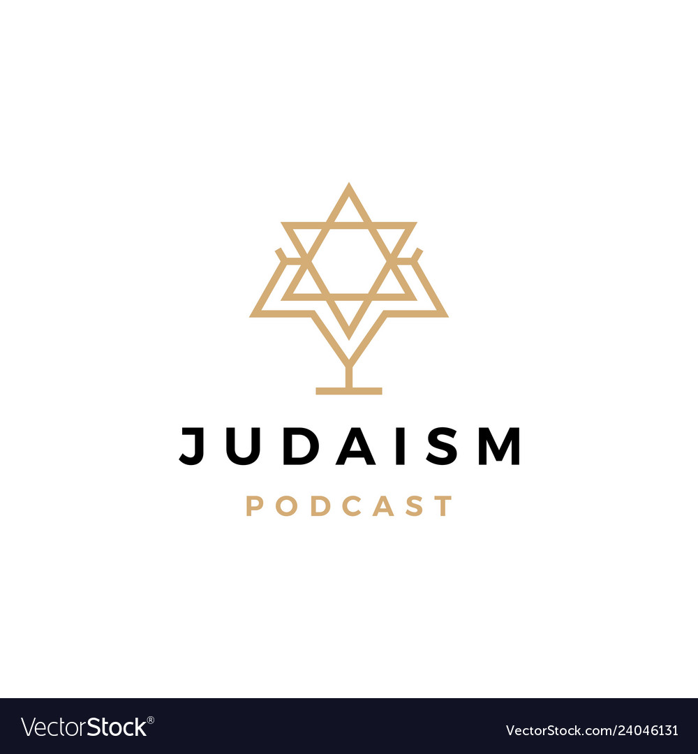 Judaism podcast logo icon for jews blog video