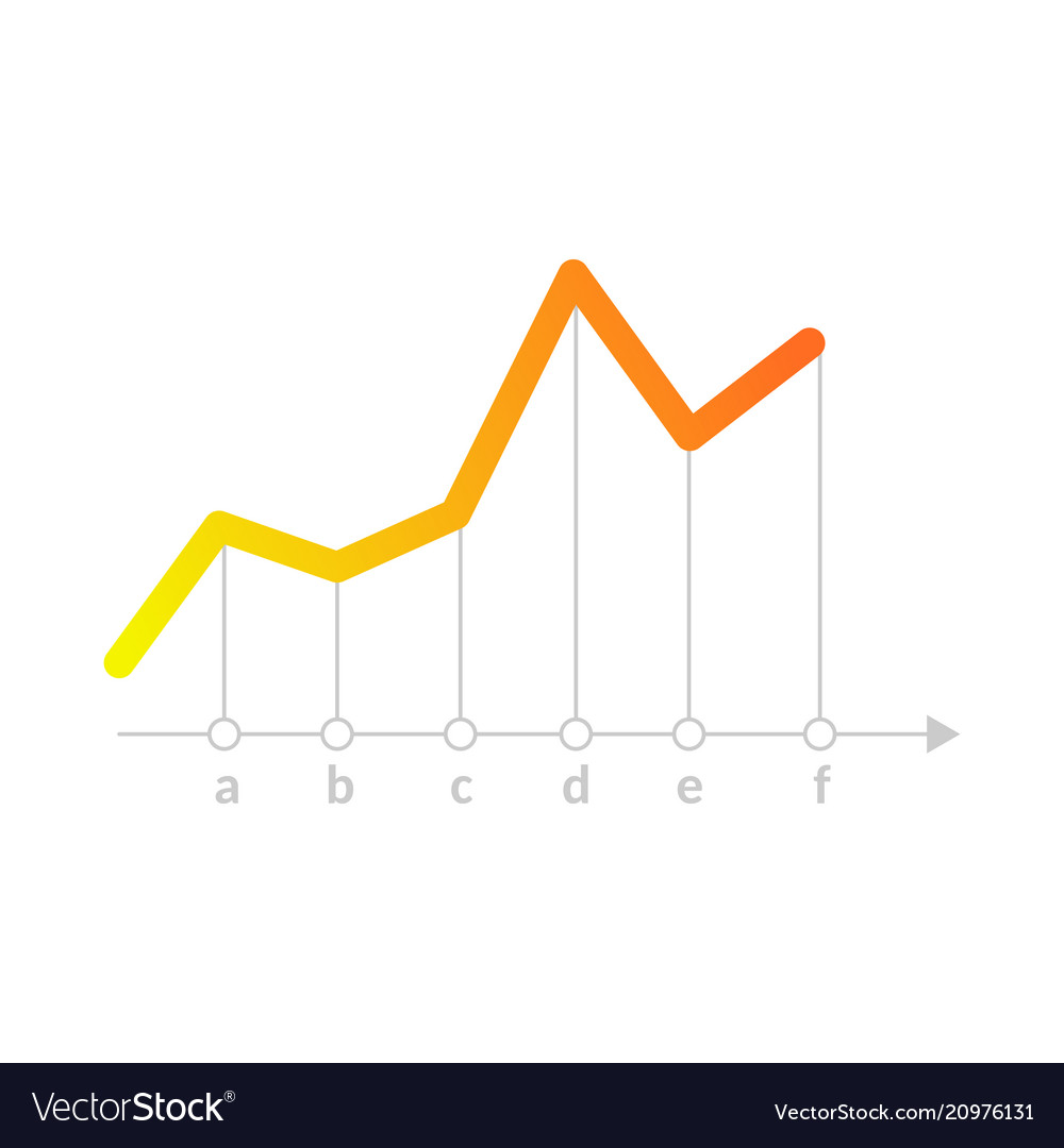 linear graph chart icon royalty free vector image  vectorstock