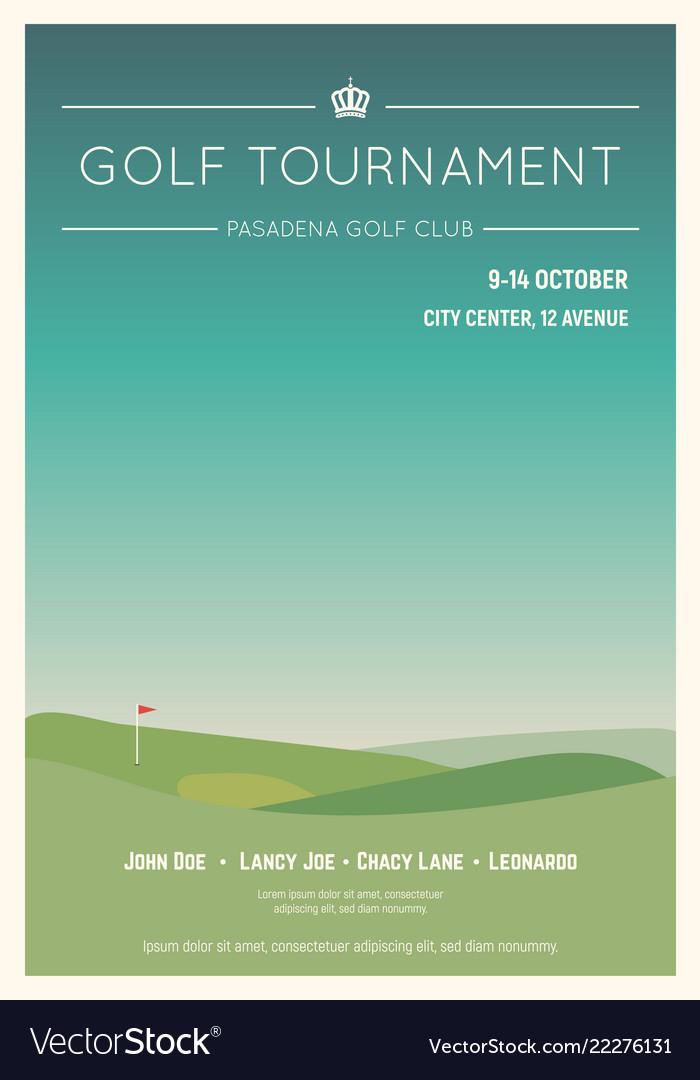 Local golf tournament poster