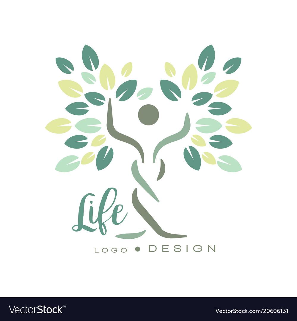 Original logo template for wellness center yoga
