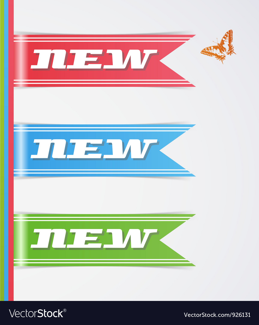 Set of new tags vector image