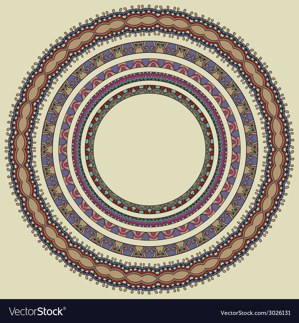 Set of round geometrical frames circle border Vector Image