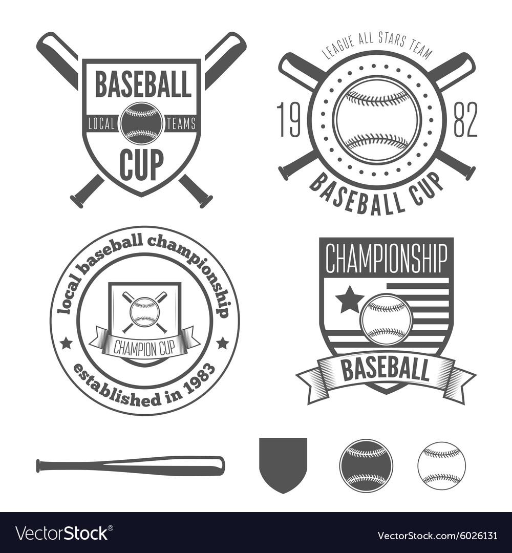 Set of vintage badge emblem and elements for