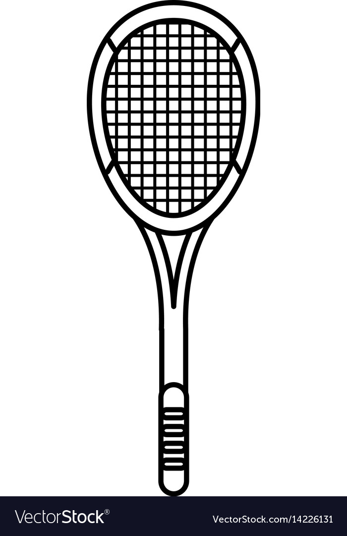 Tennis racket equipment image outline vector image