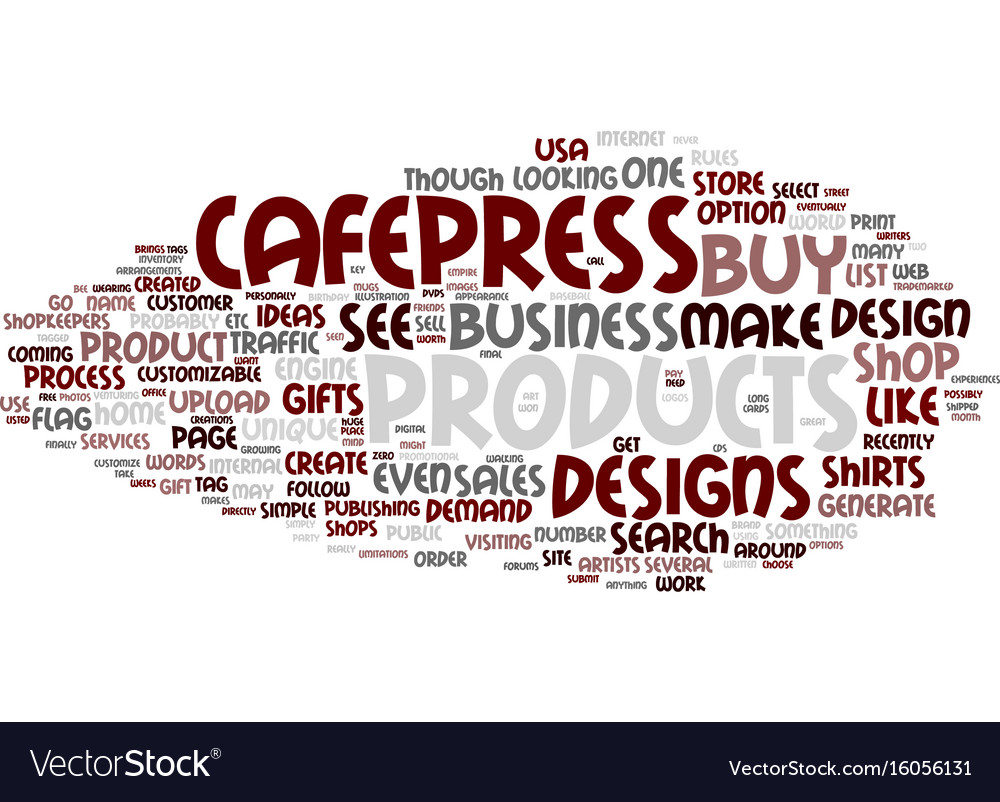 The cafepress idea of gifts and home business Vector Image