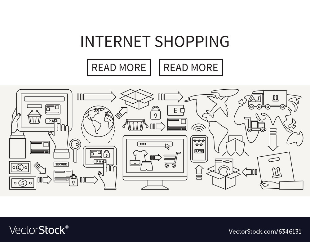 Worldwide shipping and delivery online shopping vector image on VectorStock