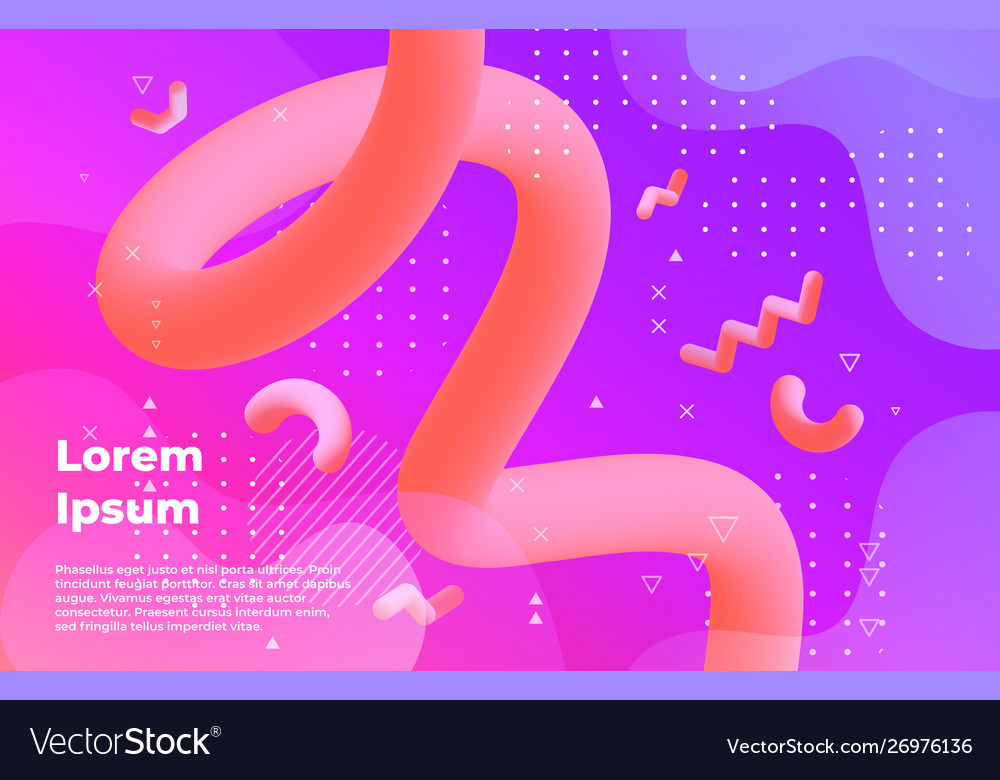 Abstract background futuristic vibrant banner