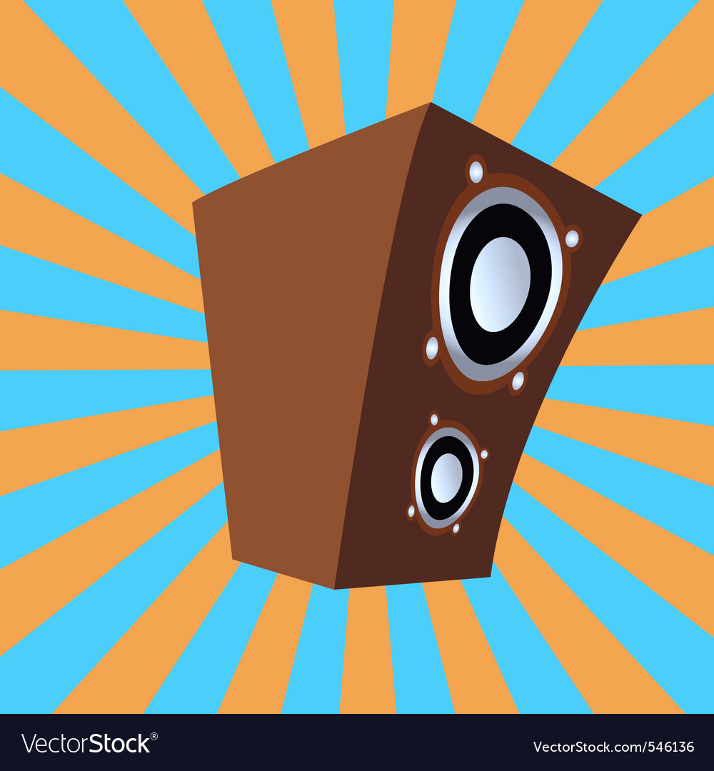 Cartoon style speaker vector image