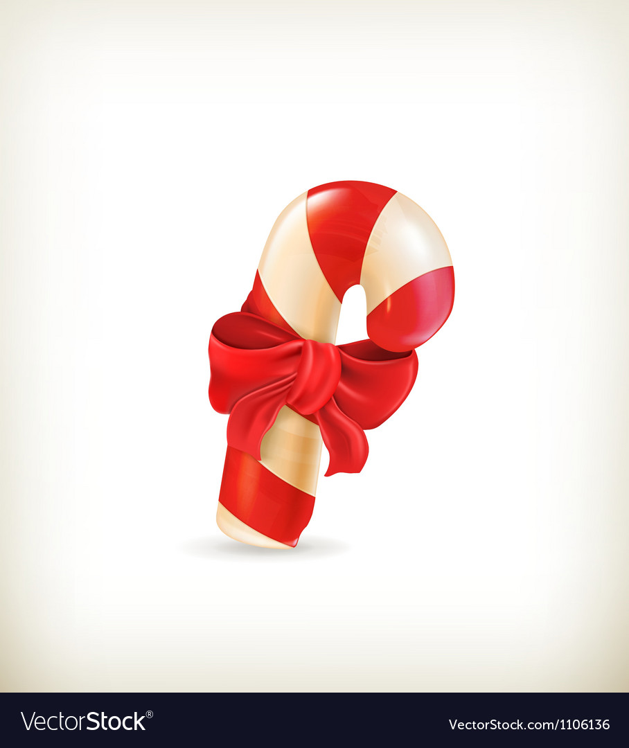 Christmas candy with bow
