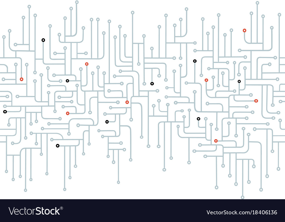 Electronic circuit seamless border Royalty Free Vector Image
