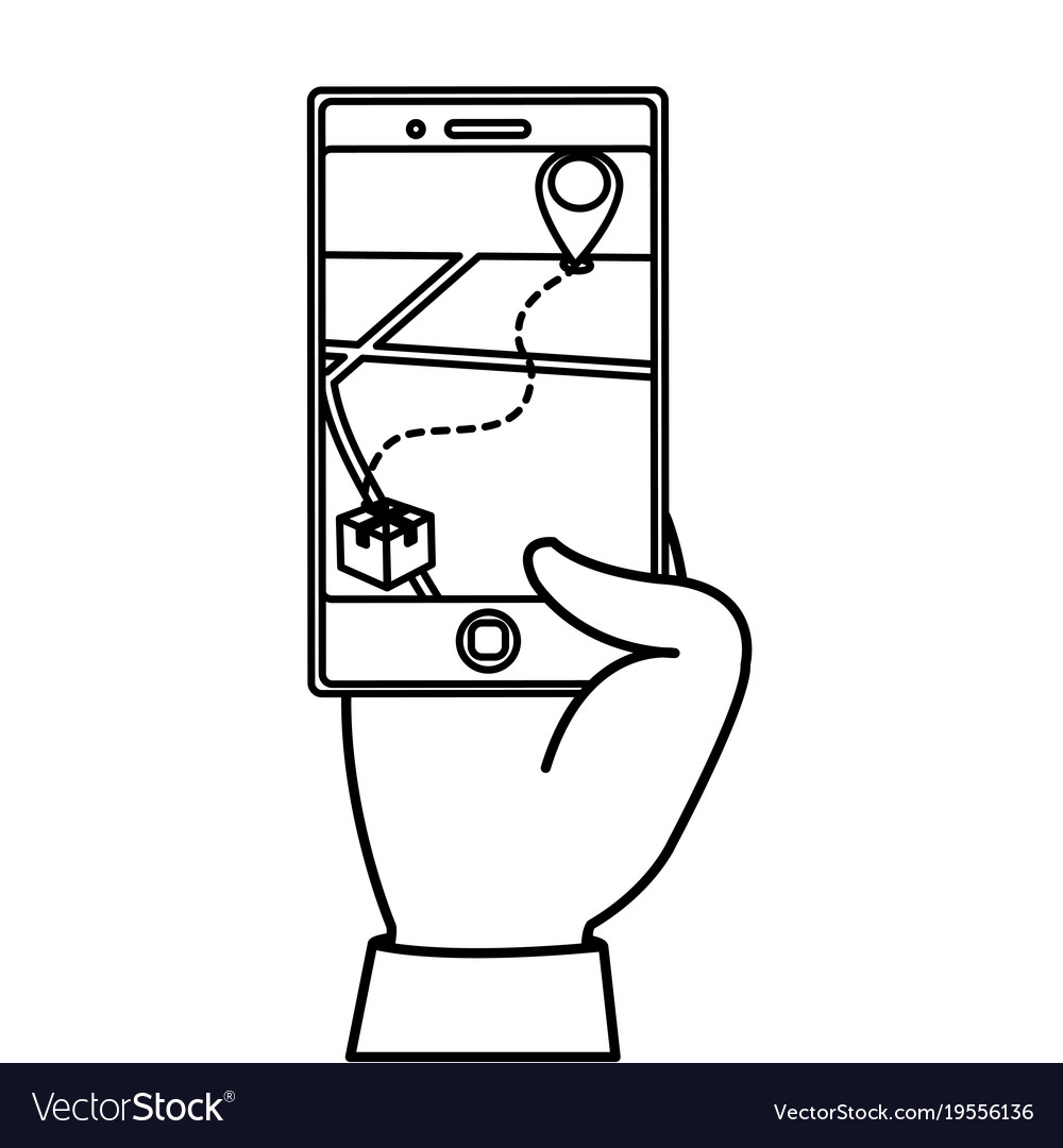 Isolated smartphone design vector image