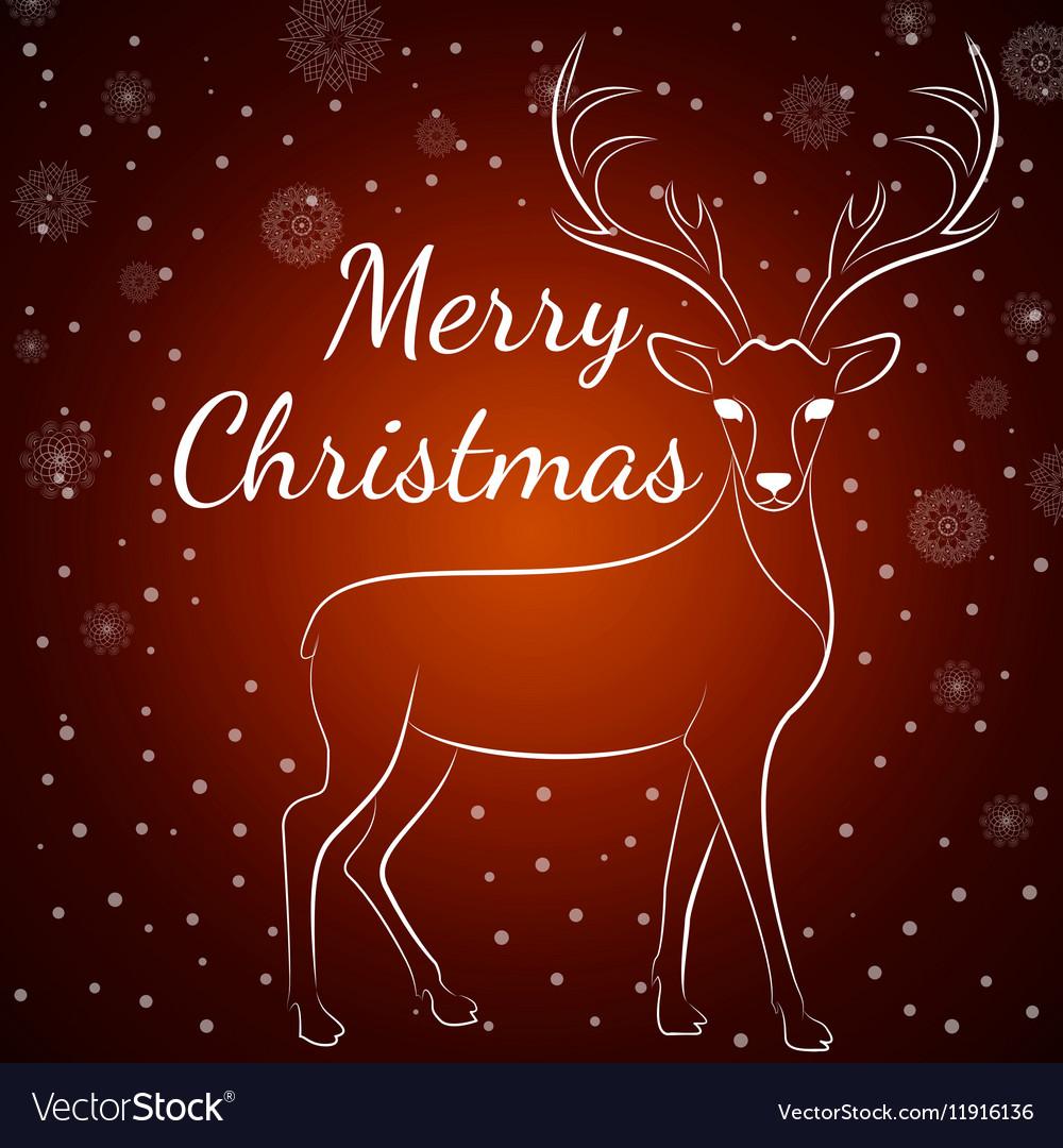 Merry Christmas brown deer
