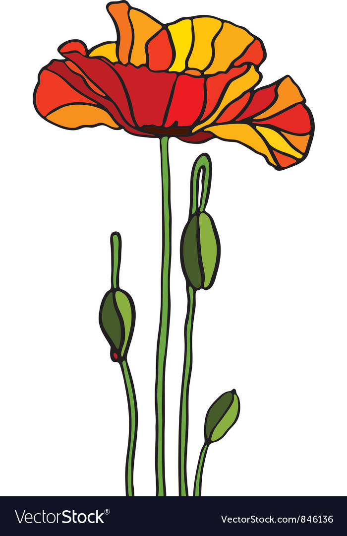 Stained Glass Poppy   Arbee Designs - Applique Patterns, Online