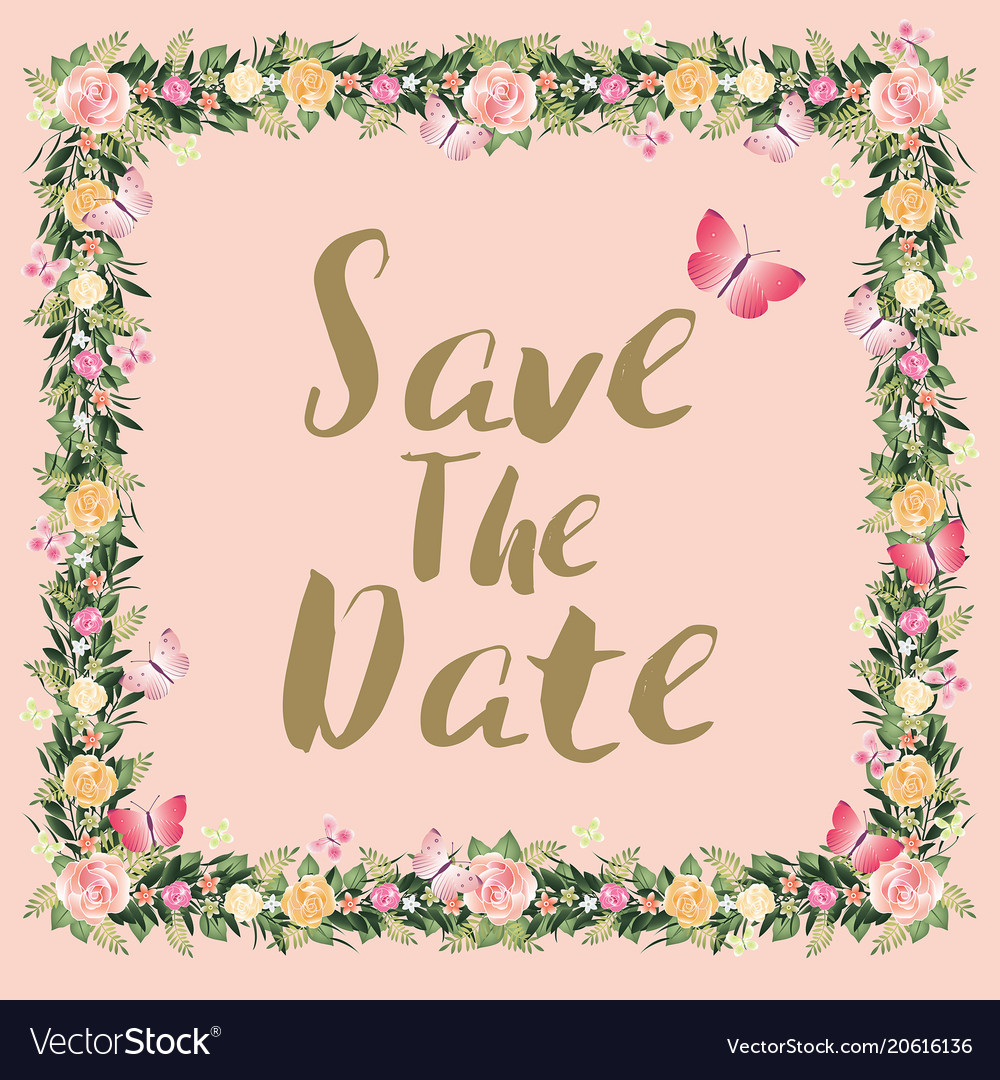 Rustic blossom flowers save the date wedding