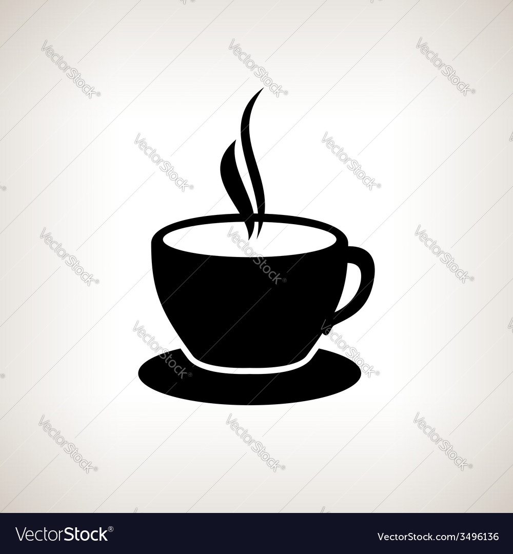 silhouette cup of tea cup of coffee royalty free vector
