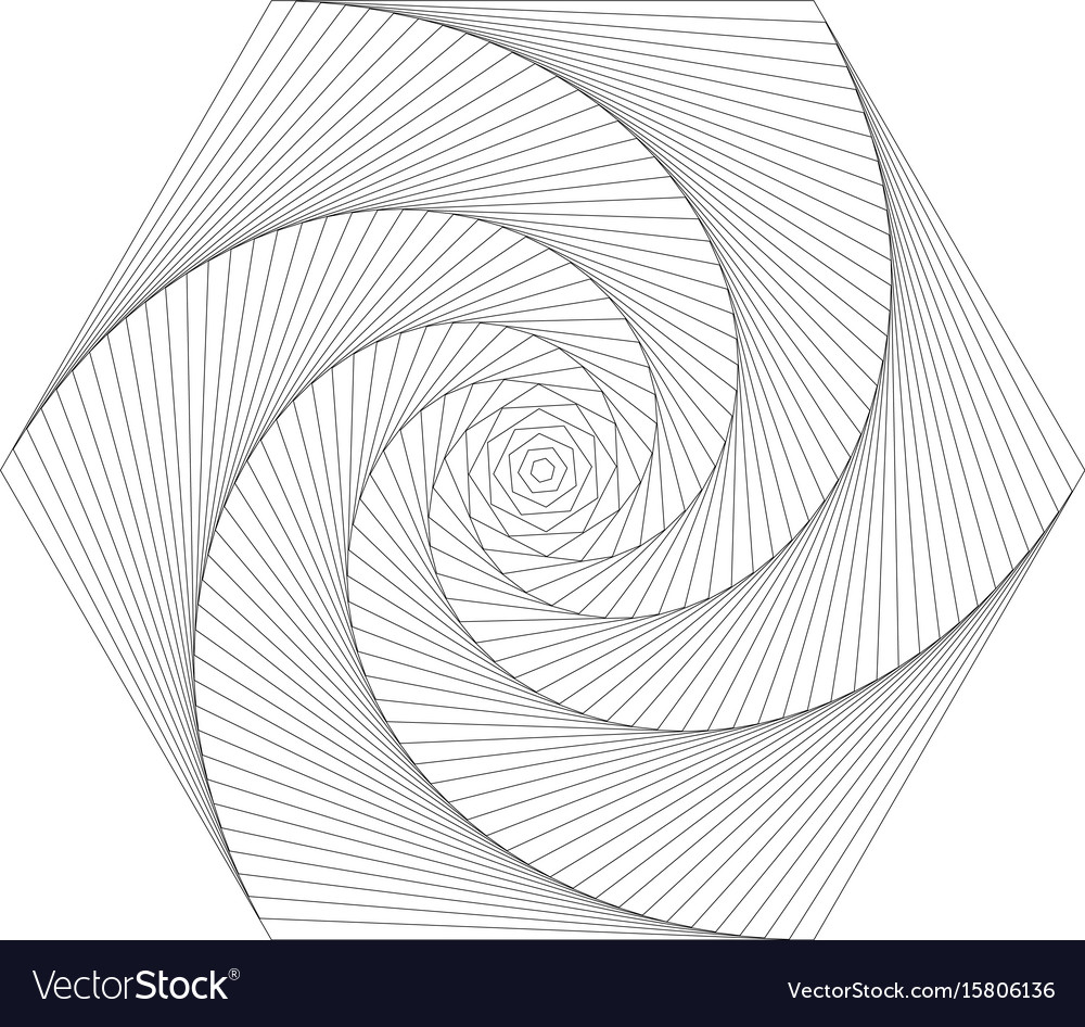 twisted hectagon royalty free vector image vectorstock