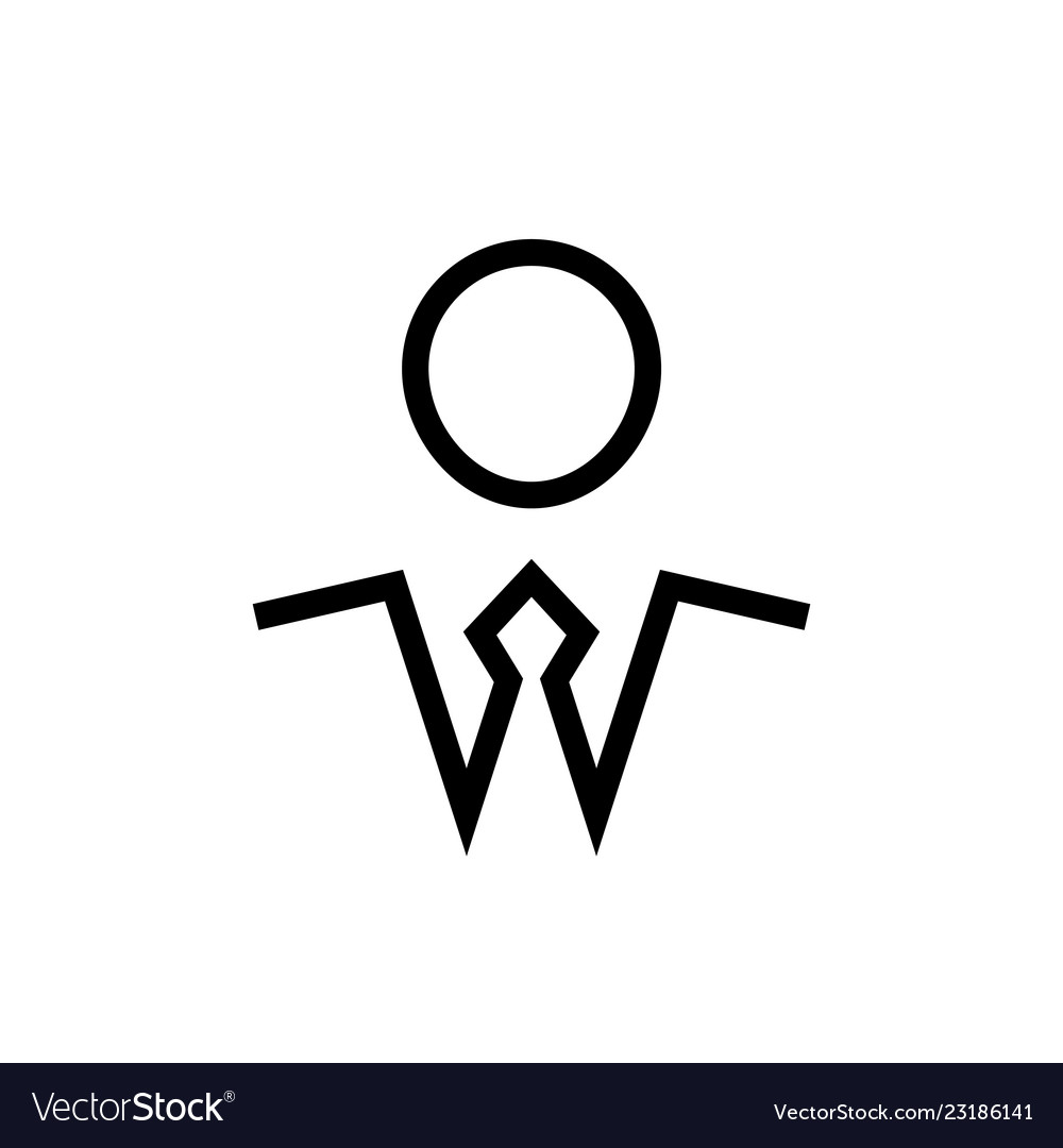 Businesman symbol man in a tie black color simple