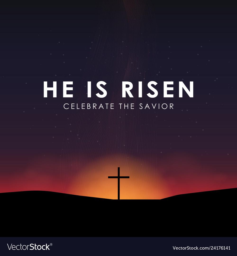 Christian easter scene saviour cross on dramatic