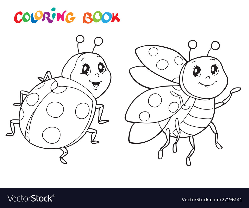 - Coloring Book With Ladybug Royalty Free Vector Image