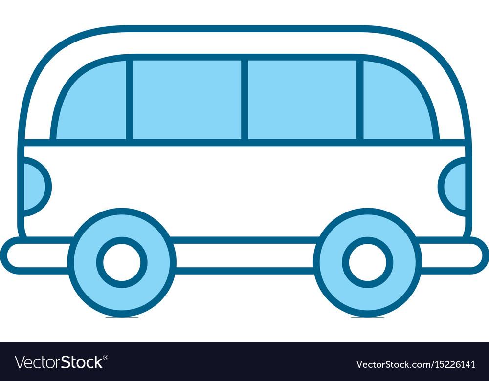 Cute blue car cartoon