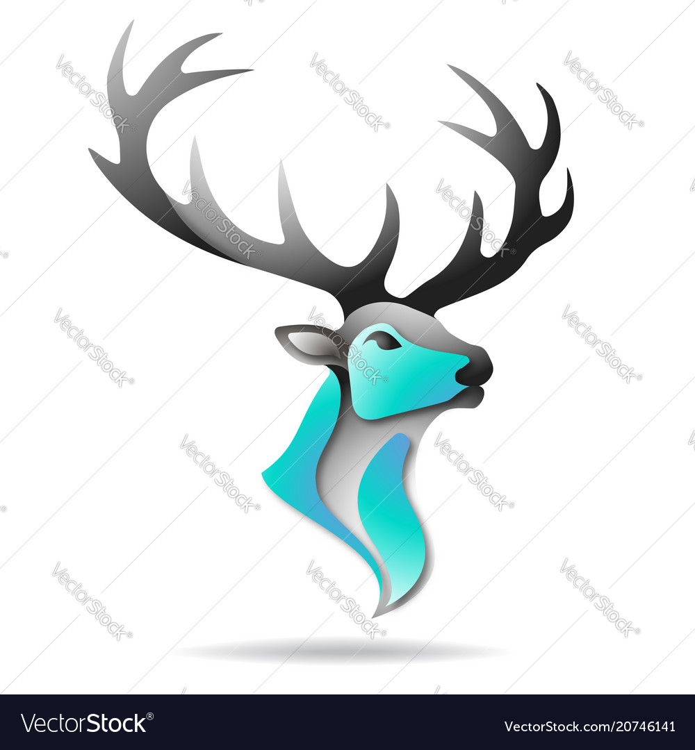 Deer logo colorful