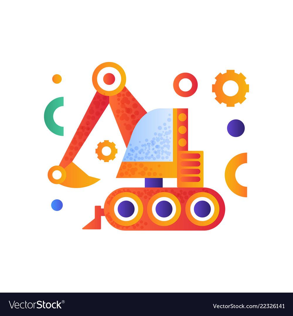 Excavator heavy industrial construction machinery