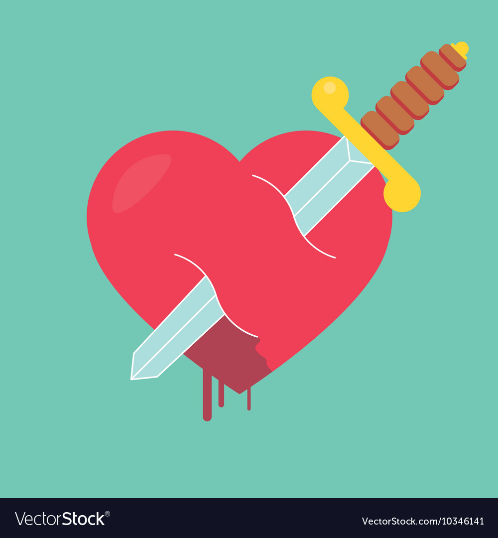 Heart with dagger icon