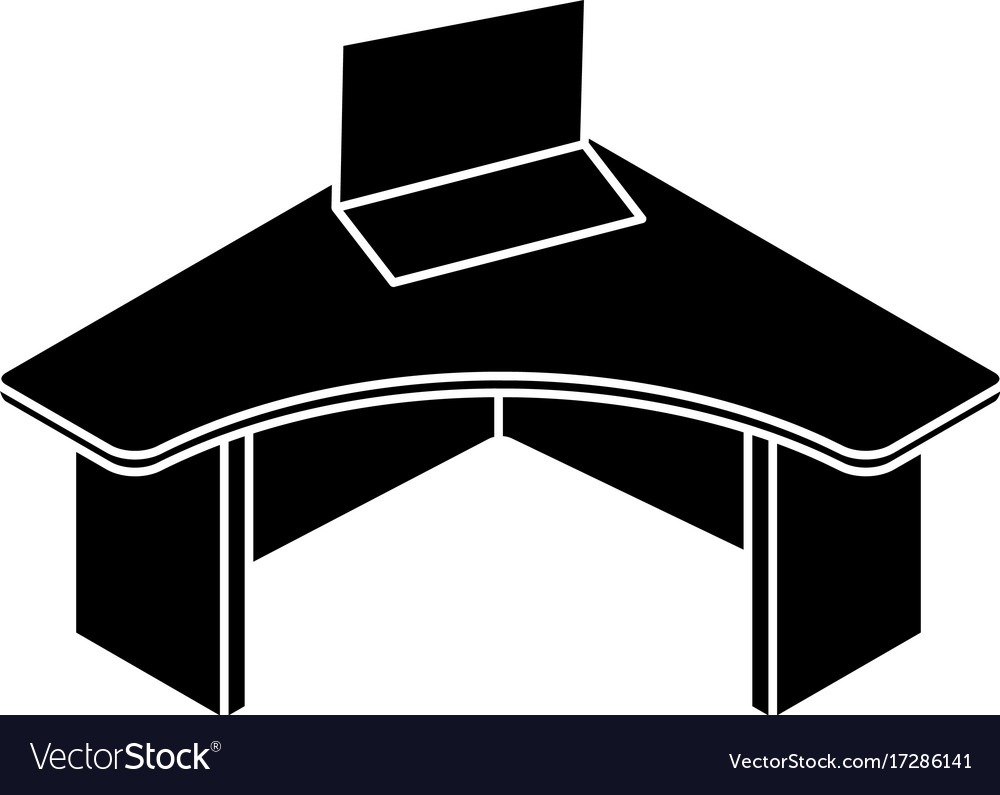 Simple office table Study Office Table Icon Simple Style Vector Image Overstock Office Table Icon Simple Style Royalty Free Vector Image