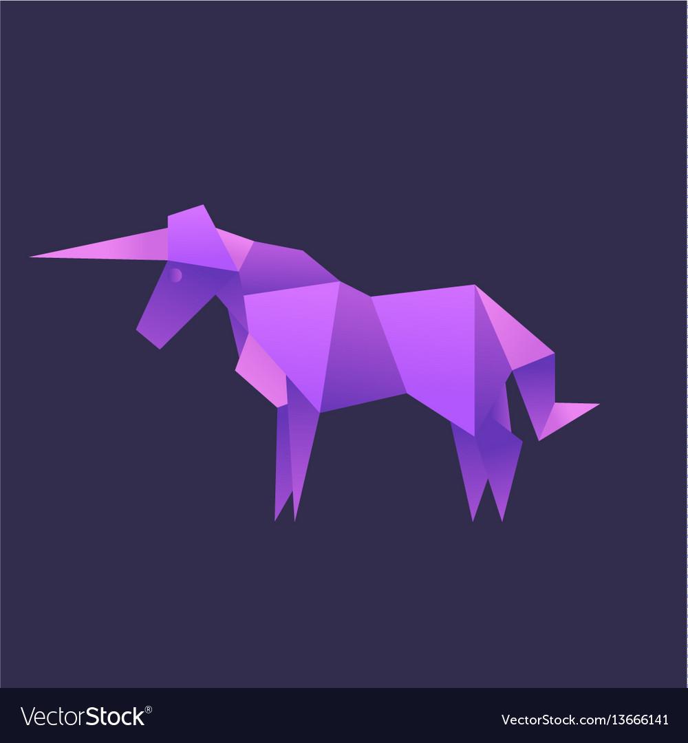 Unicorn animals origami