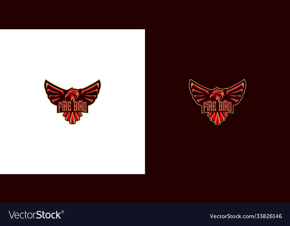 Fire bird logo design