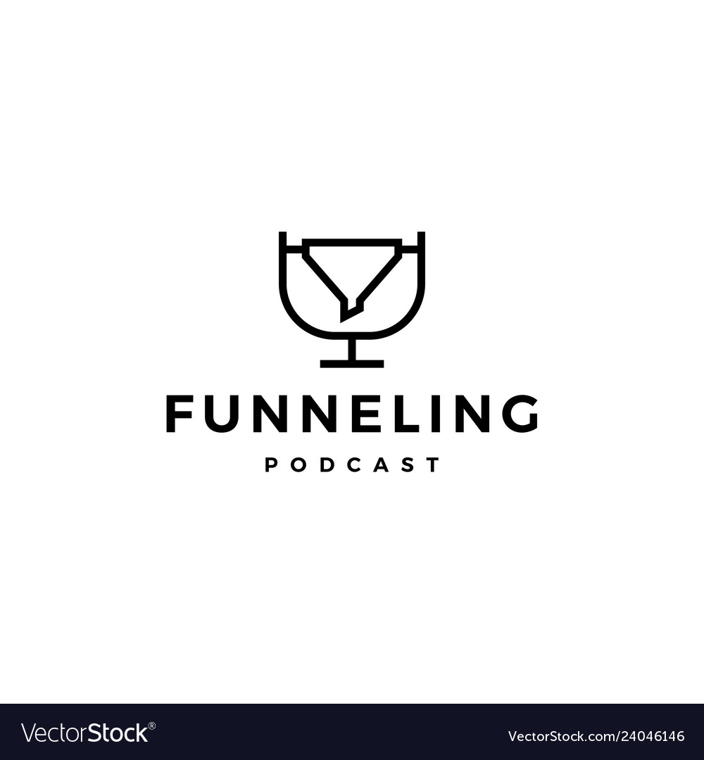 Funneling podcast logo icon for marketing blog