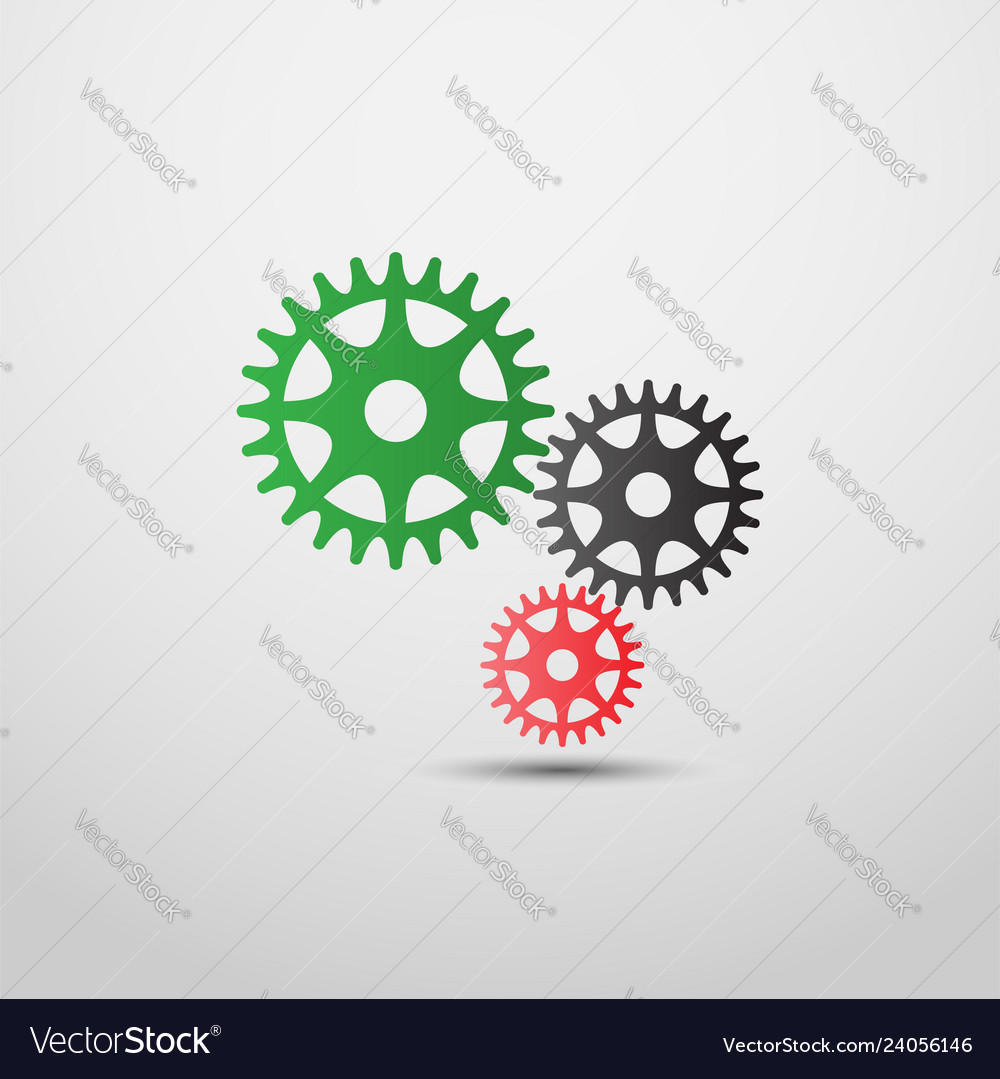 Gears icon in colorful style