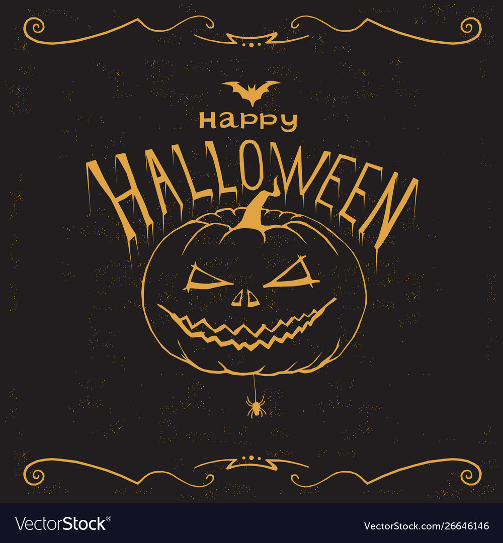 Happy halloween print wall art poster