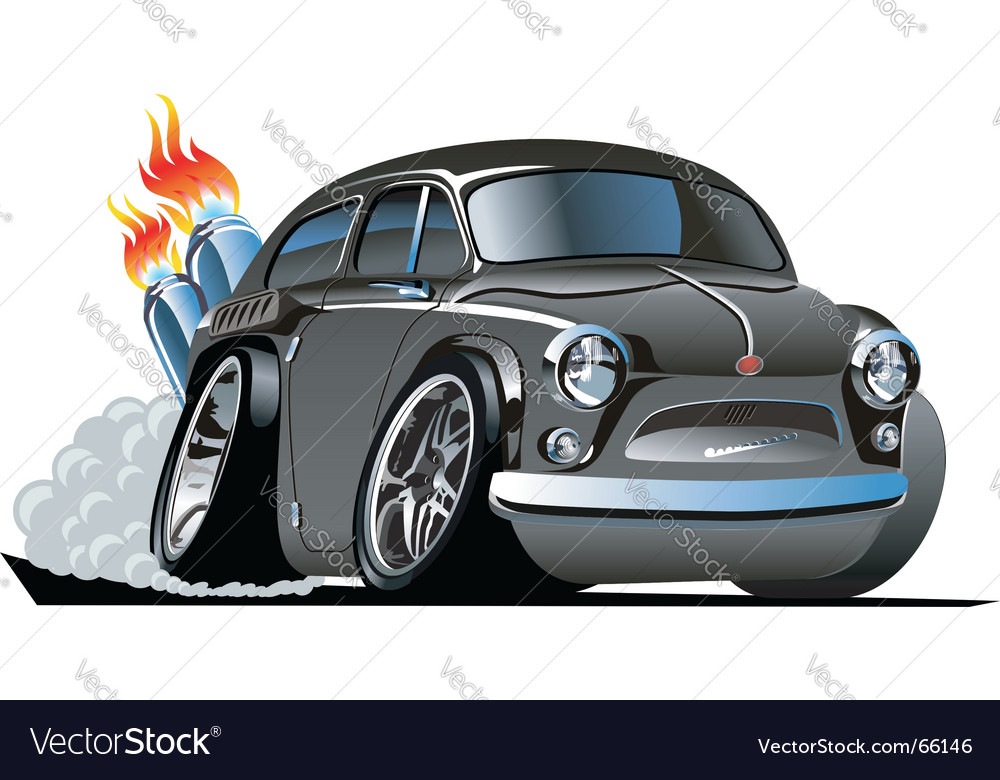 Retro cartoon hot rod