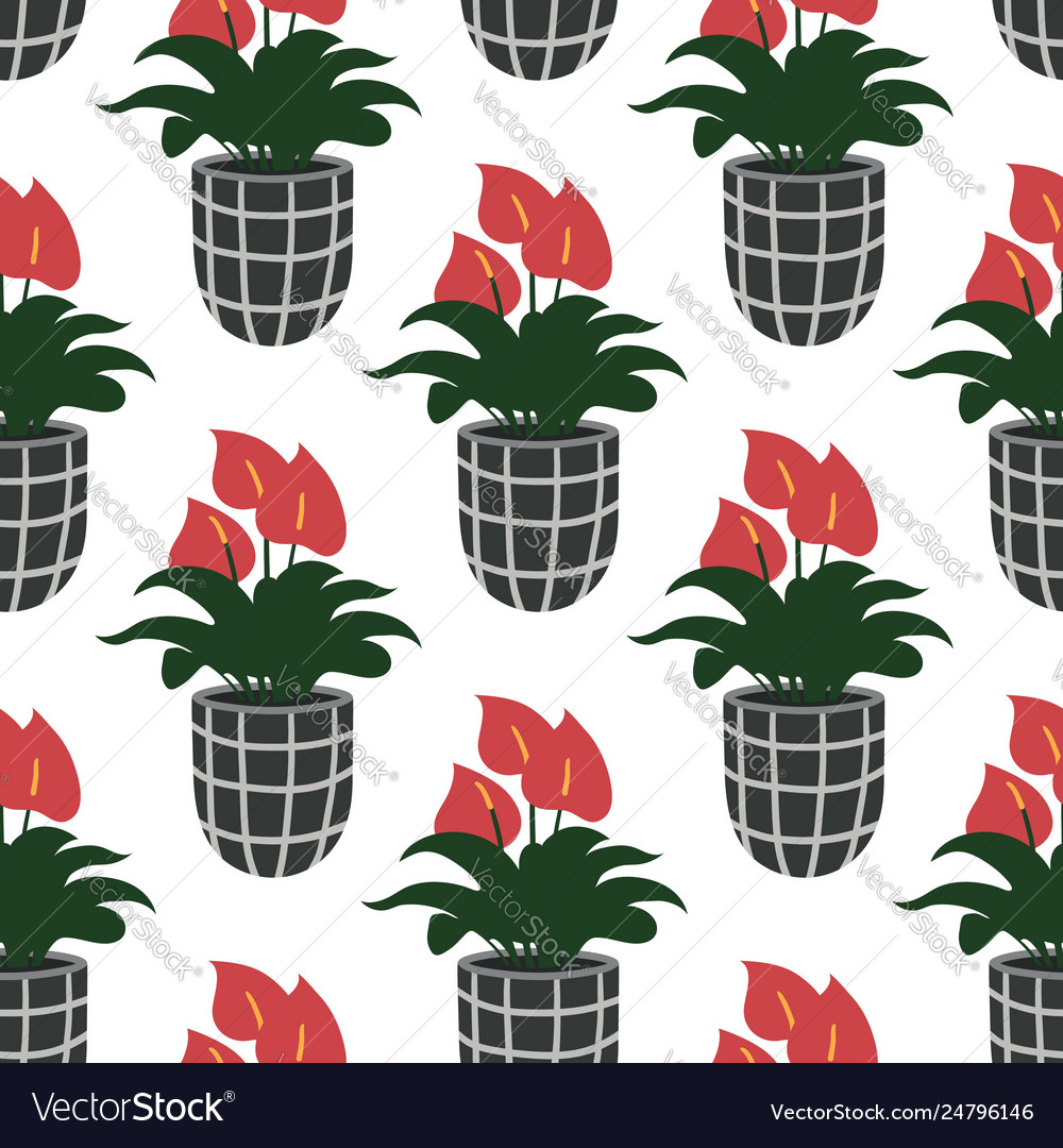 Seamless pattern with colorful hand drawn flower