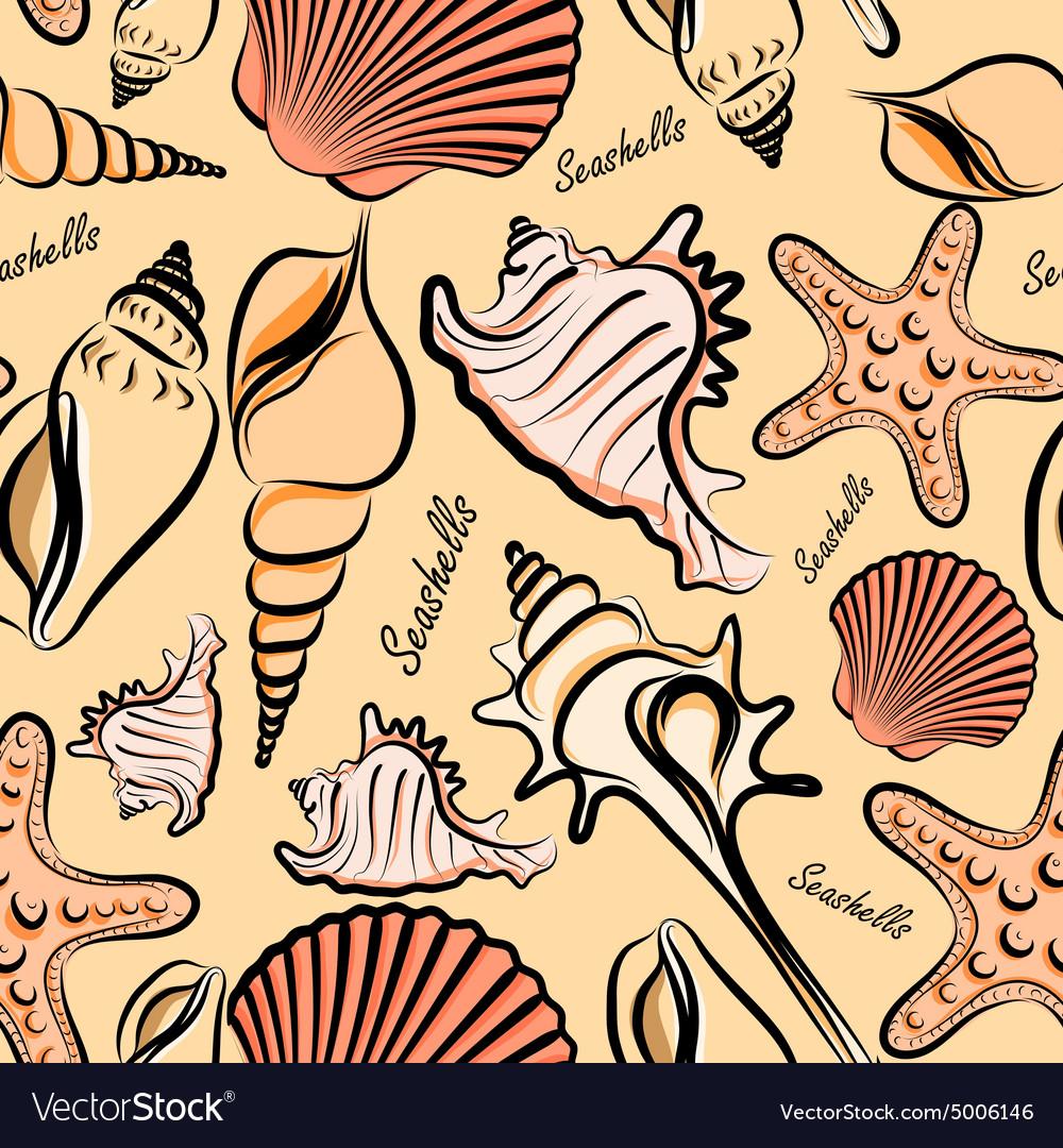 Seashells seamless